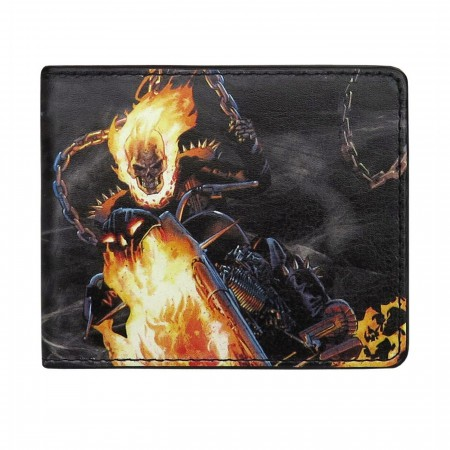Ghost Rider Flames Bi-Fold Wallet