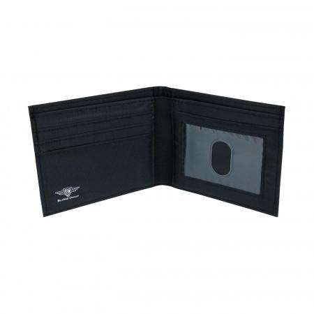 Superman Symbol on Blue Bi-Fold Wallet