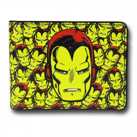 Iron Man Yellow Collage Bi-Fold Wallet