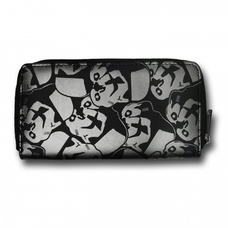 Star Wars Stormtrooper Helmets Zip Around Wallet