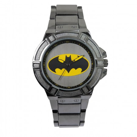 Batman Classic Symbol Watch with Metal Band