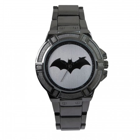 Batman Hush Symbol Charcoal Watch with Metal Band