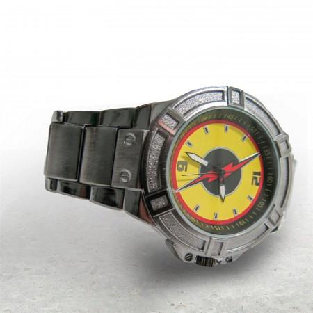 Flash Reverse Flash Symbol Black Watch with Metal Band