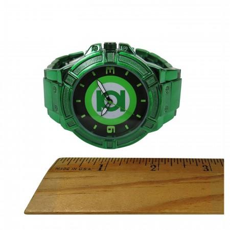 Green Lantern Symbol Watch with Metal Band