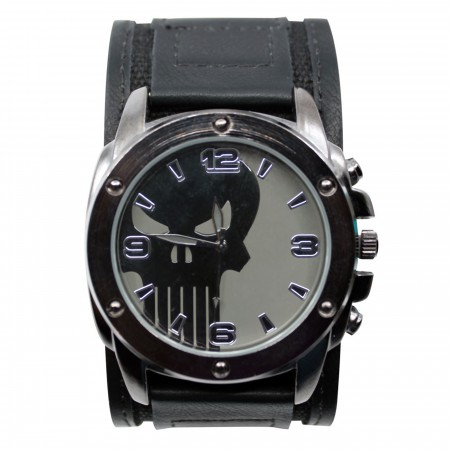 Punisher Symbol Watch with Dual Fasten Adjustable Strap