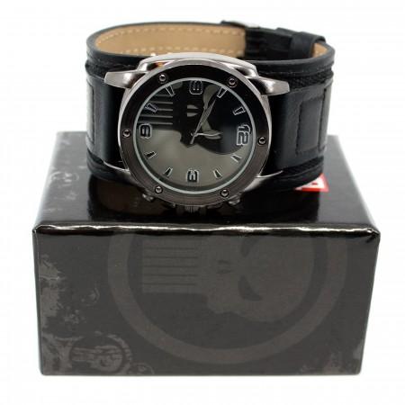 Punisher Symbol Watch with Dual Fasten Adjustable Strap