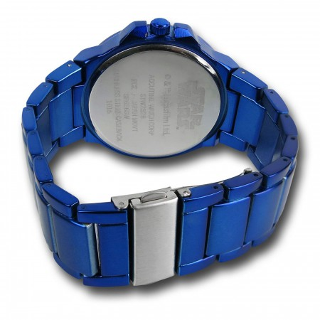 Star Wars Rebel Symbol Blue Watch with Metal Band