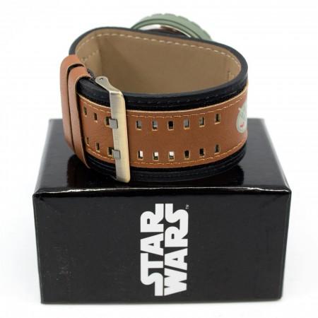 Star Wars Boba Fett Mandalorian Watch with Dual Fasten Adjustable Strap