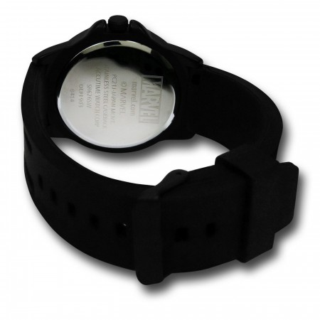 X-Men Symbol Black Watch with Silicone Band