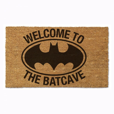 "Batman Welcome to the Batcave 17""x 29"" Doormat with Non-Skid Back"