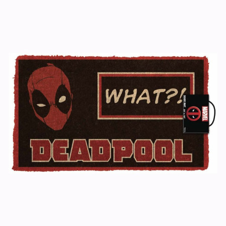 "Deadpool What?! 17""x 29"" Doormat with Non-skid Back"