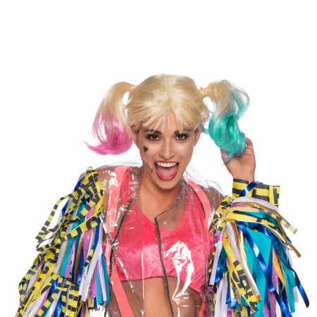 Harley Quinn Adult Costume Wig