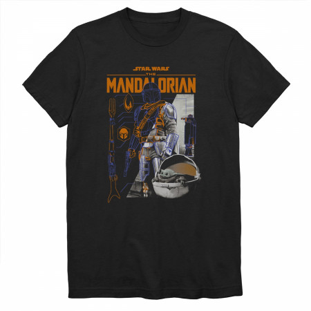 Star Wars Mandalorian and The Child Light and Dark Side T-Shirt