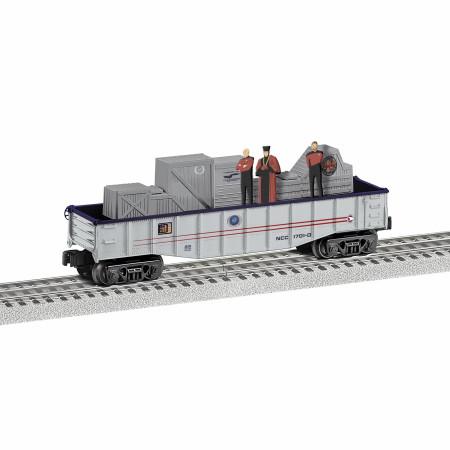 Star Trek Picard, Riker, and Q Chasing Gondola Lionel Train Car