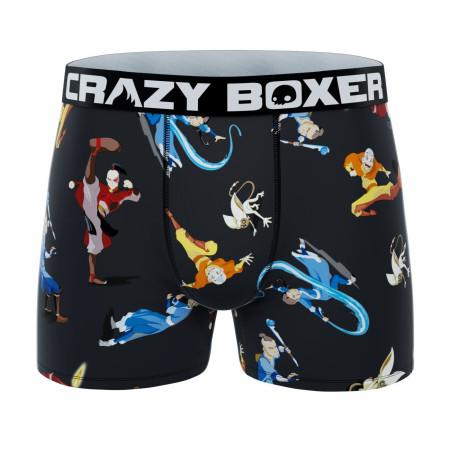 Crazy Boxers Avatar Action Poses Men's Boxer Briefs