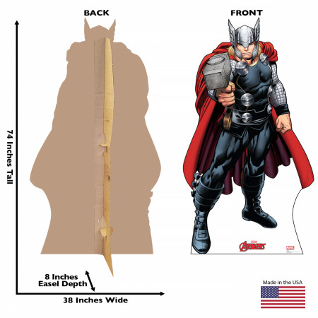 Avengers Animated Thor Cardboard Stand Up