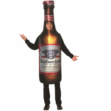Budweiser Beer Bottle Hooded Tunic Costume