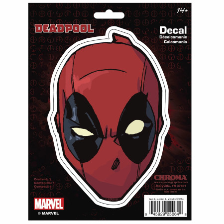 Deadpool Face Vinyl Car Decal