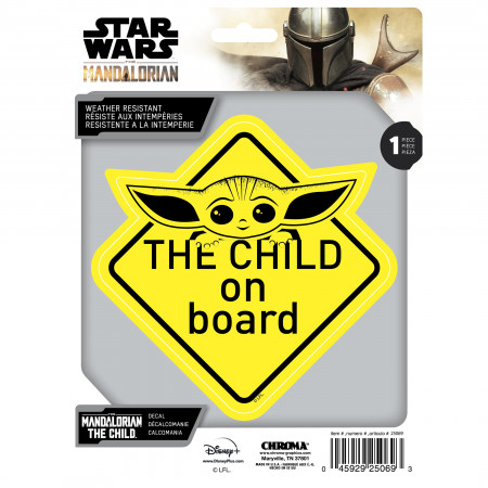 Star Wars The Mandalorian The Child on Board Decal