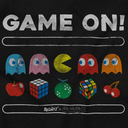 Pac-Man Game On Characters and Fruit Logo T-Shirt