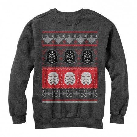 Star Wars Holiday Helmet Gray Ugly Sweater