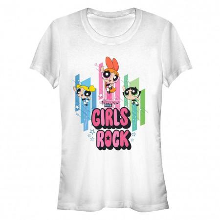 Power Puff Girls Hero Girls Rock White T-Shirt