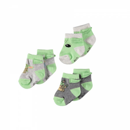 Star Wars The Mandalorian Grogu Booties Sock 3-Pack