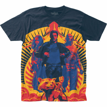 Guardians Of The Galaxy Men's Blue Team T-Shirt