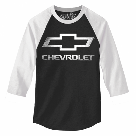 Chevrolet Black and White Baseball T-Shirt