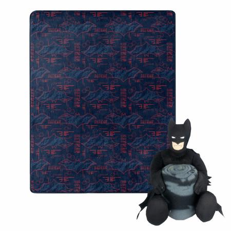 DC Comics Batman Symbols 40 X 50 Silk Touch with Plush Hugger