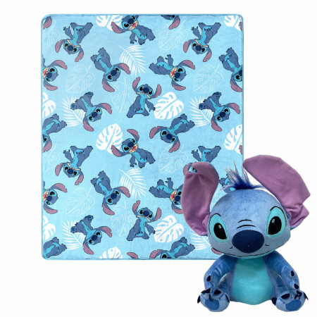 Disney Lilo and Stitch Pineapple Bunch 40 X 50 Silk Touch with Plush Hugger
