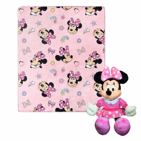 Disney Minnie Mouse Favorite Things Silk Touch with Plush Hugger