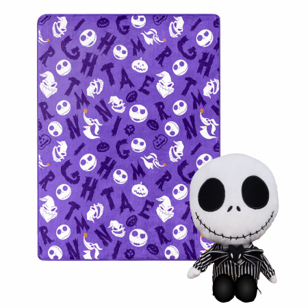 Nightmare Before Christmas Jack Skellington 40 X 50 Silk Touch with Plush Hugger