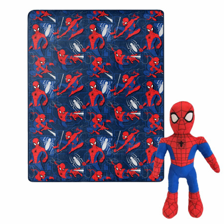 Spider-Man Character and Symbols 40 x 50 Silk Touch with Plush Hugger