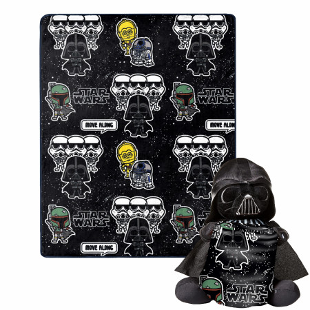 Star Wars Darth Vader and Villains 40 x 50 Silk Touch with Plush Hugger