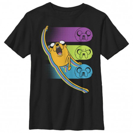 Adventure Time Jake Chop Black Youth T-Shirt