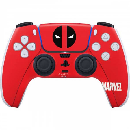 Deadpool Logo Red PS5 Controller Skin