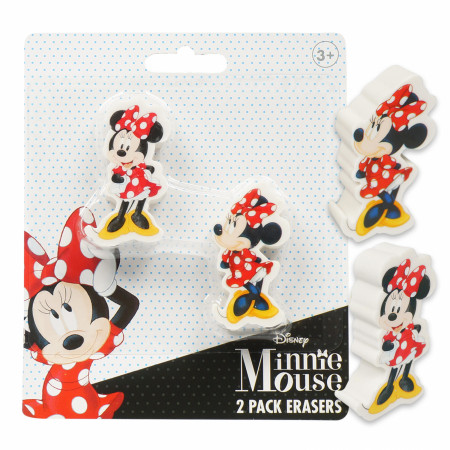 Minnie Mouse Disney 2-Pack Erasers