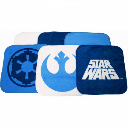 Star Wars Classic Saga 6-Piece Wash Cloth Set