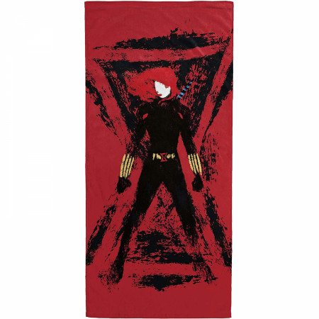 Black Widow Painted Beach Towel