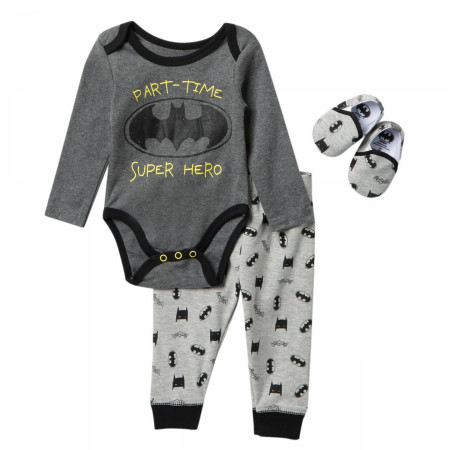 Batman Part Time Superhero 3-Piece Babies Sleep Set