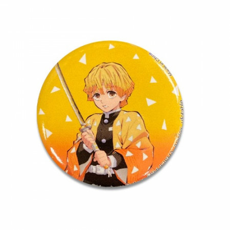 Demon Slayer Zenitsu Agatsuma Button