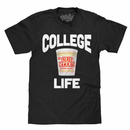 Cup Noodles College Life Black T-Shirt