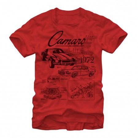 Chevrolet General Motors Blueprints Red T-Shirt