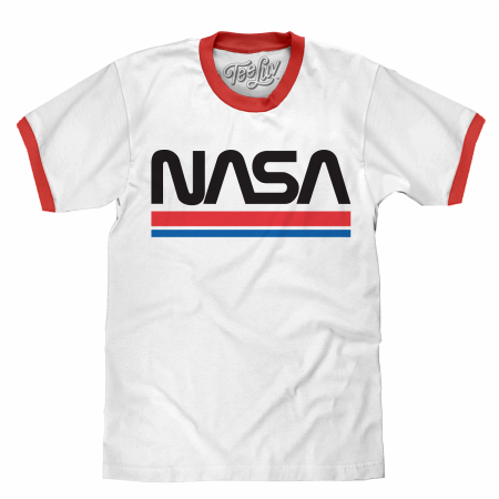 NASA White Ringer T-Shirt