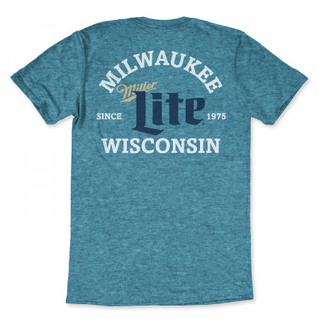 Miller Lite Milwaukee Wisconsin Blue T-Shirt