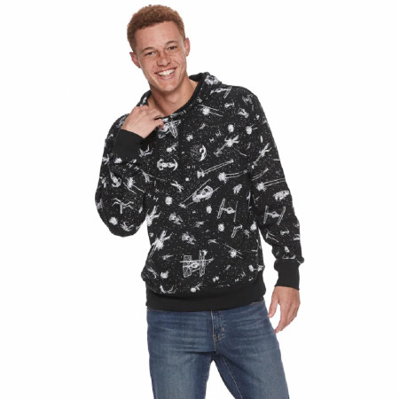 Star Wars Ships All Over Print Pullover Hoodie