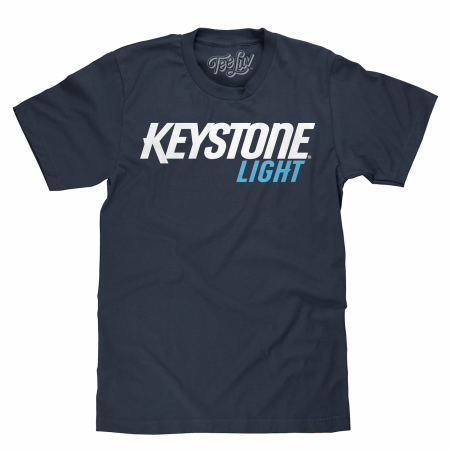 Keystone Light Text Blue T-Shirt