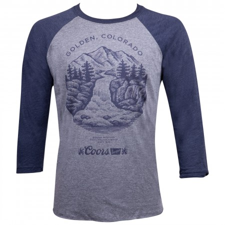 Coors Golden Colorado Waterfall Raglan Shirt