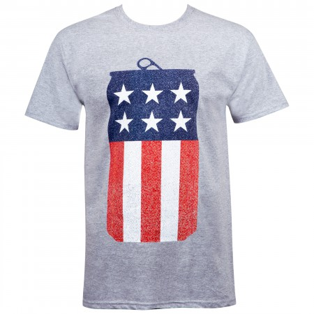 Miller Lite Beer American Flag USA Can T-Shirt